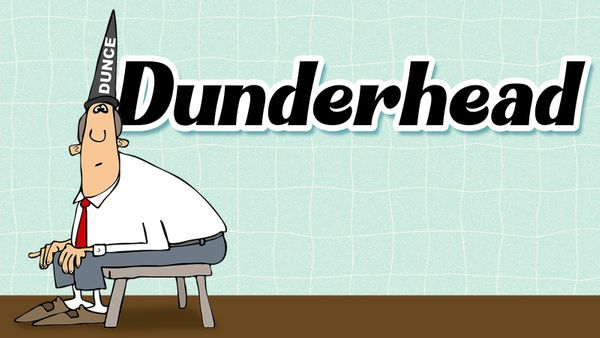dunderhead slang for word games