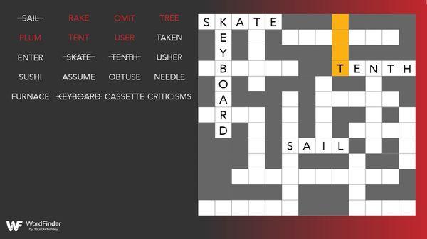 fill-it-in crossword puzzle