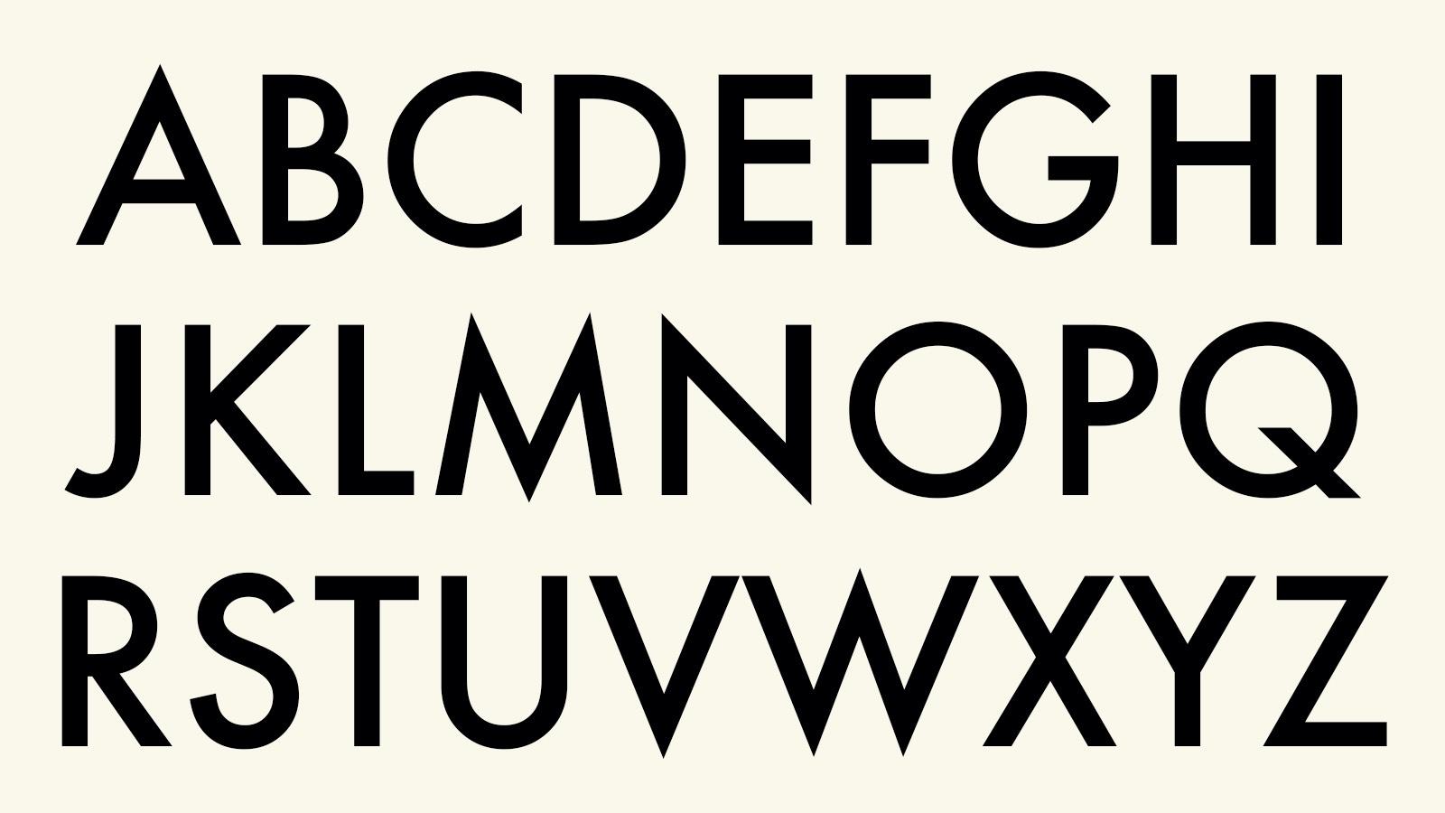 Alphabet in Futura Font