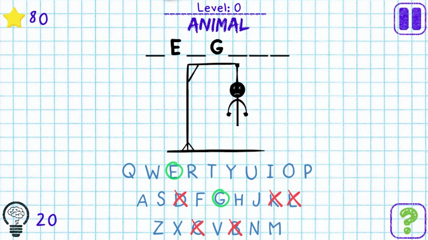 Hangman desktop game animal