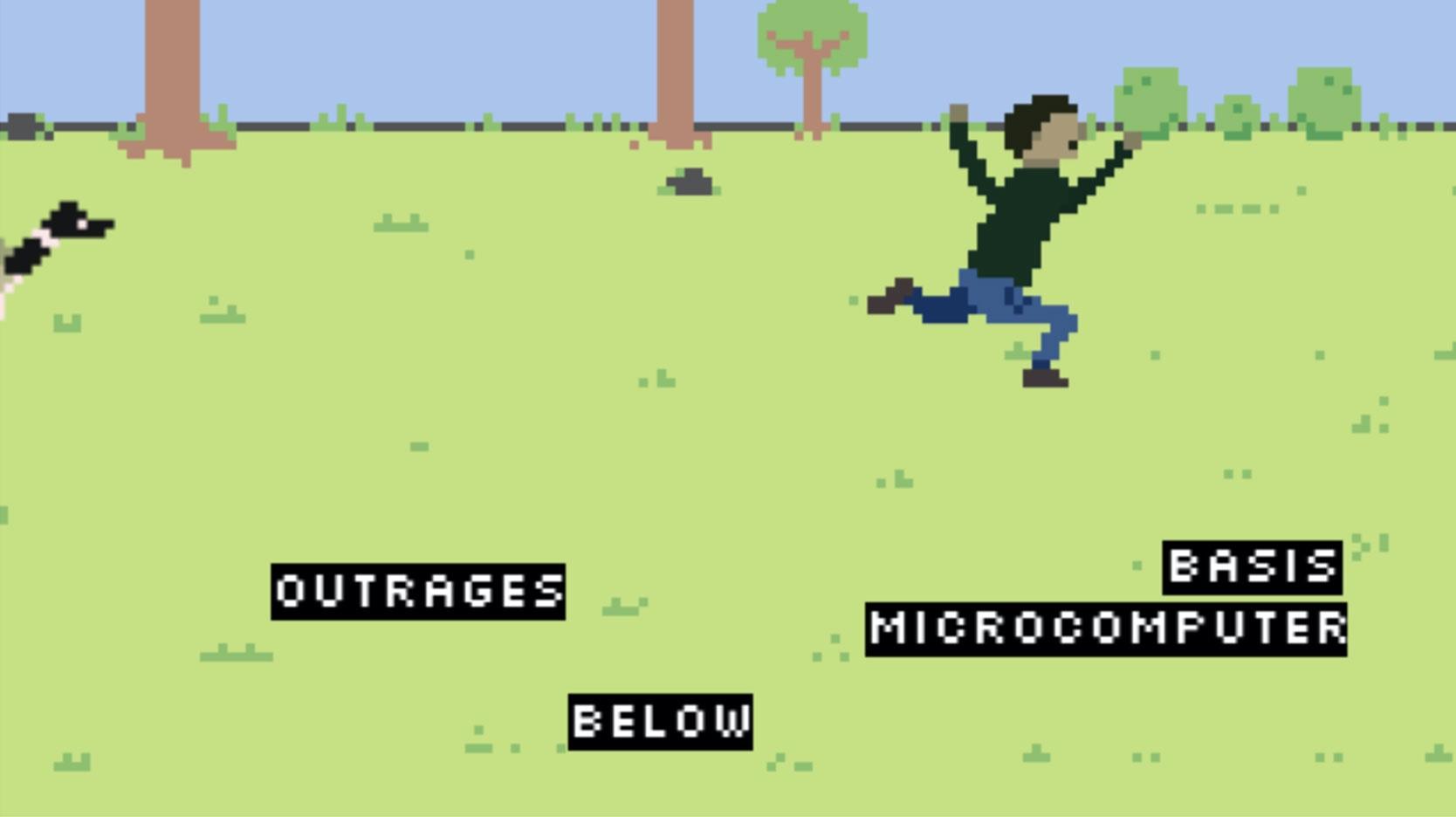 screenshot of goose typing attack game