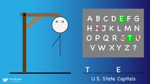 hangman desktop game state capitals