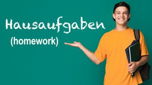 Hausaufgaben - German for homework