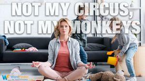 Polish idiom not my circus not my monkeys meditate mom playing children