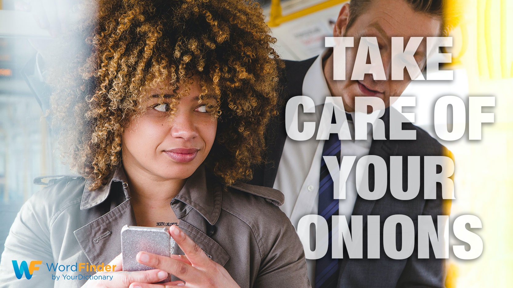 French take care of your onions man reading woman's text