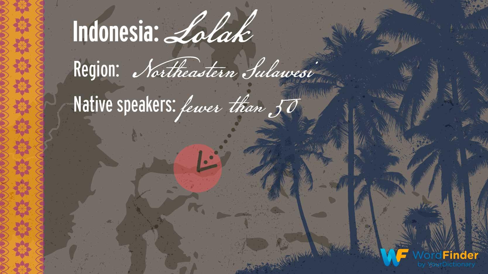 indonesia lolak endangerd language