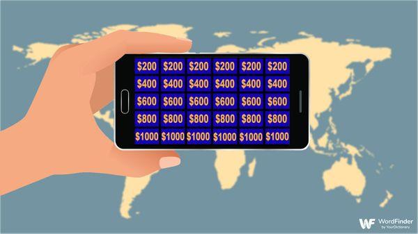jeopardy app with world background