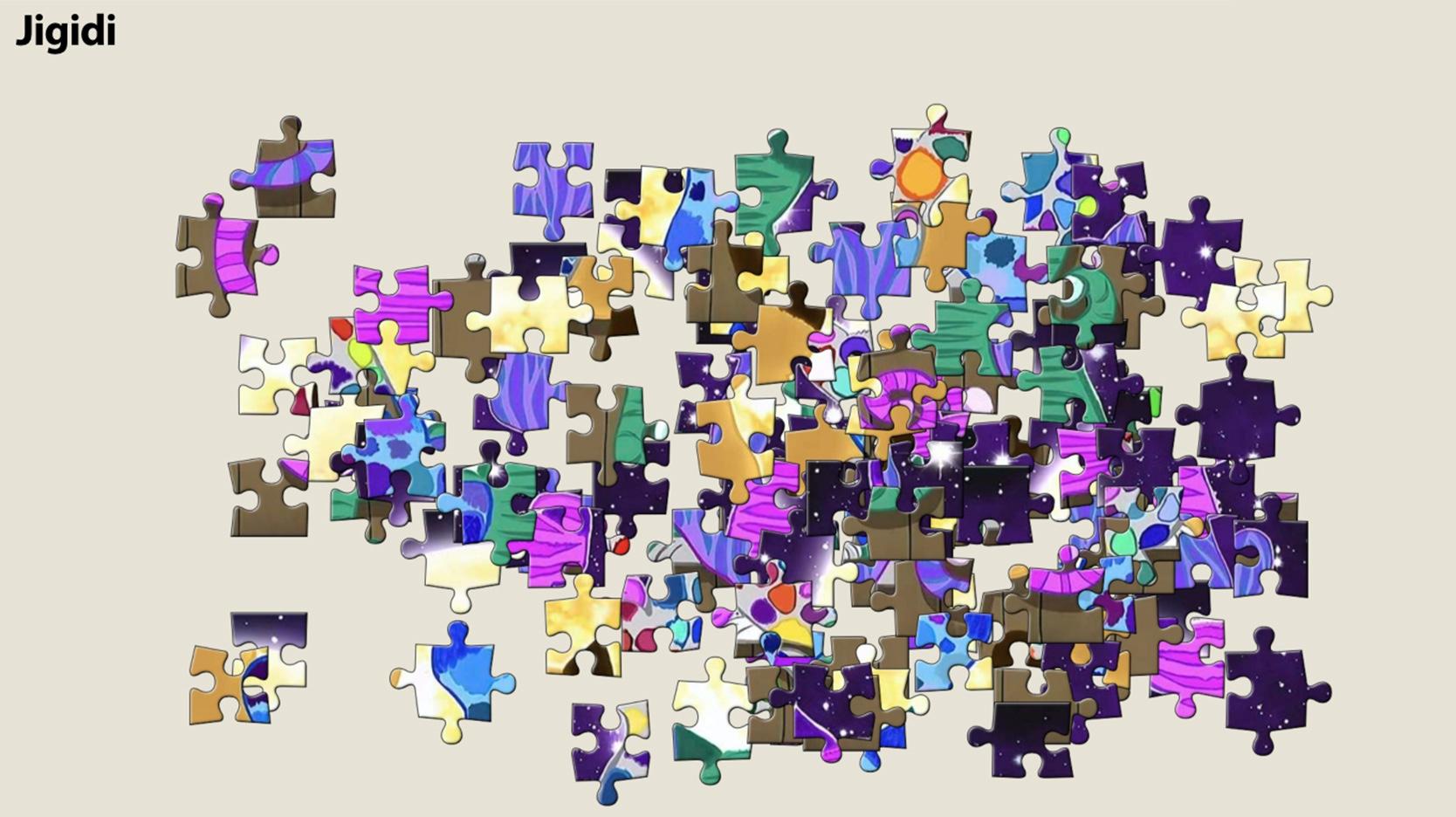Screenshot of Jigidi game