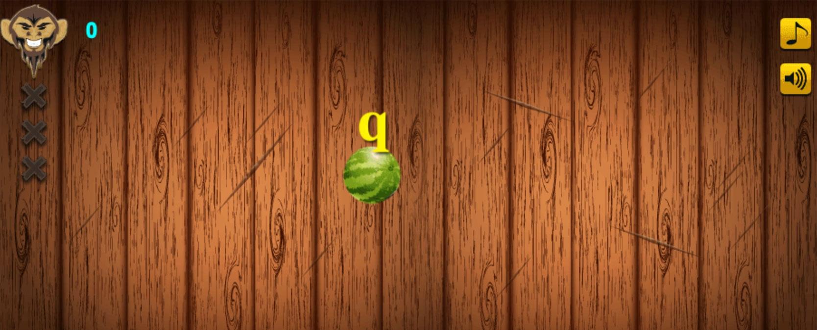 screenshot of keyboard ninja game