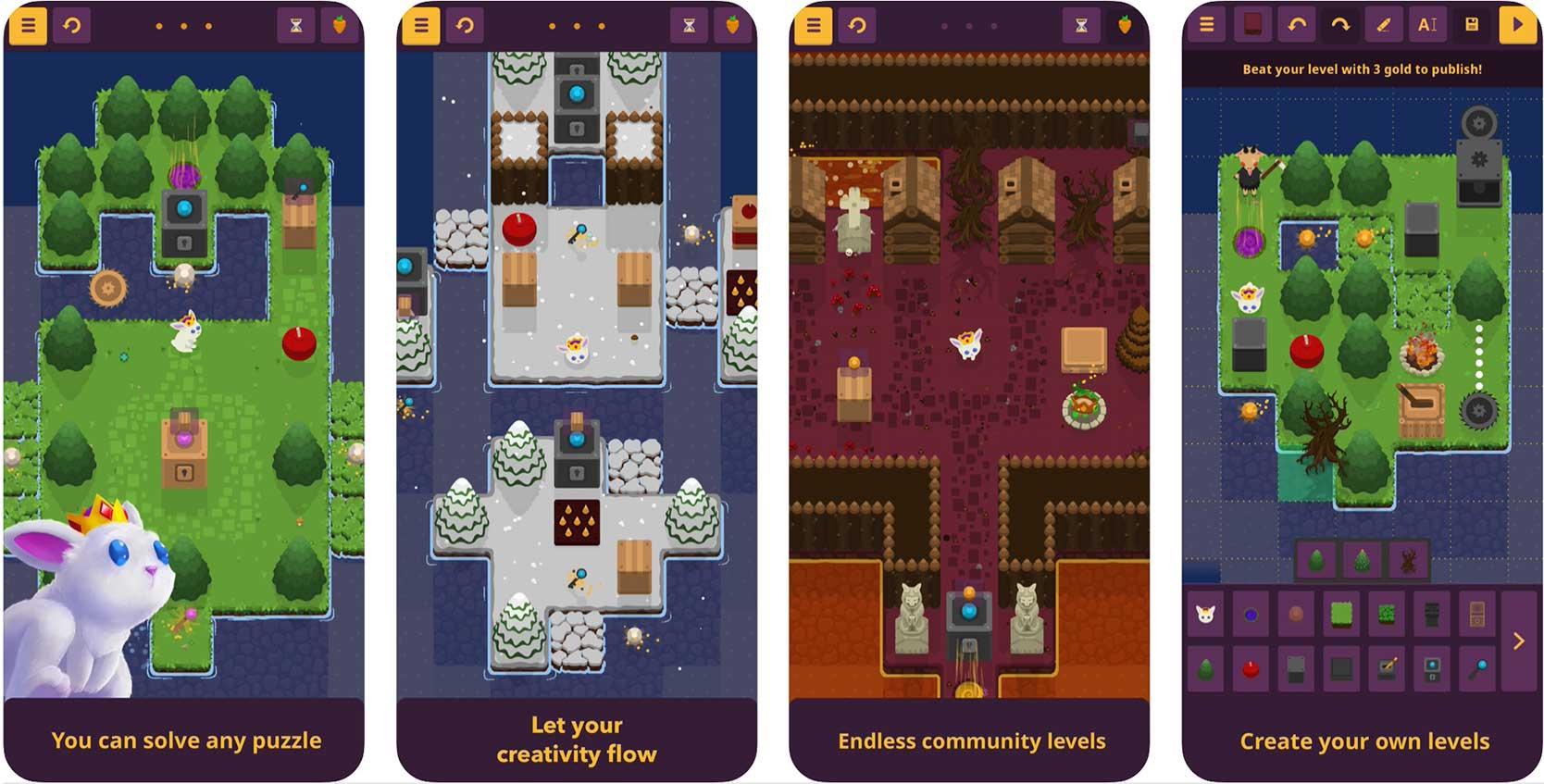 screenshot of king rabbit iPhone game