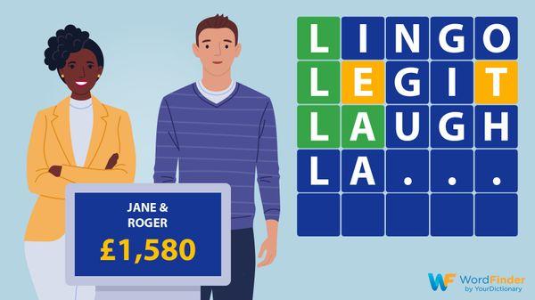 LINGO contestants game board