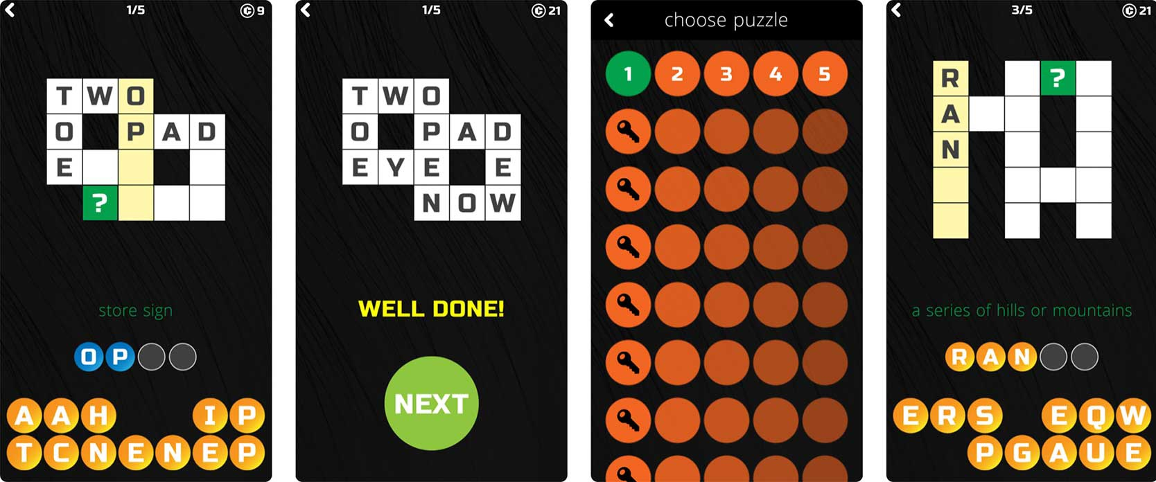 Screenshot of Little Crossword Puzzle game