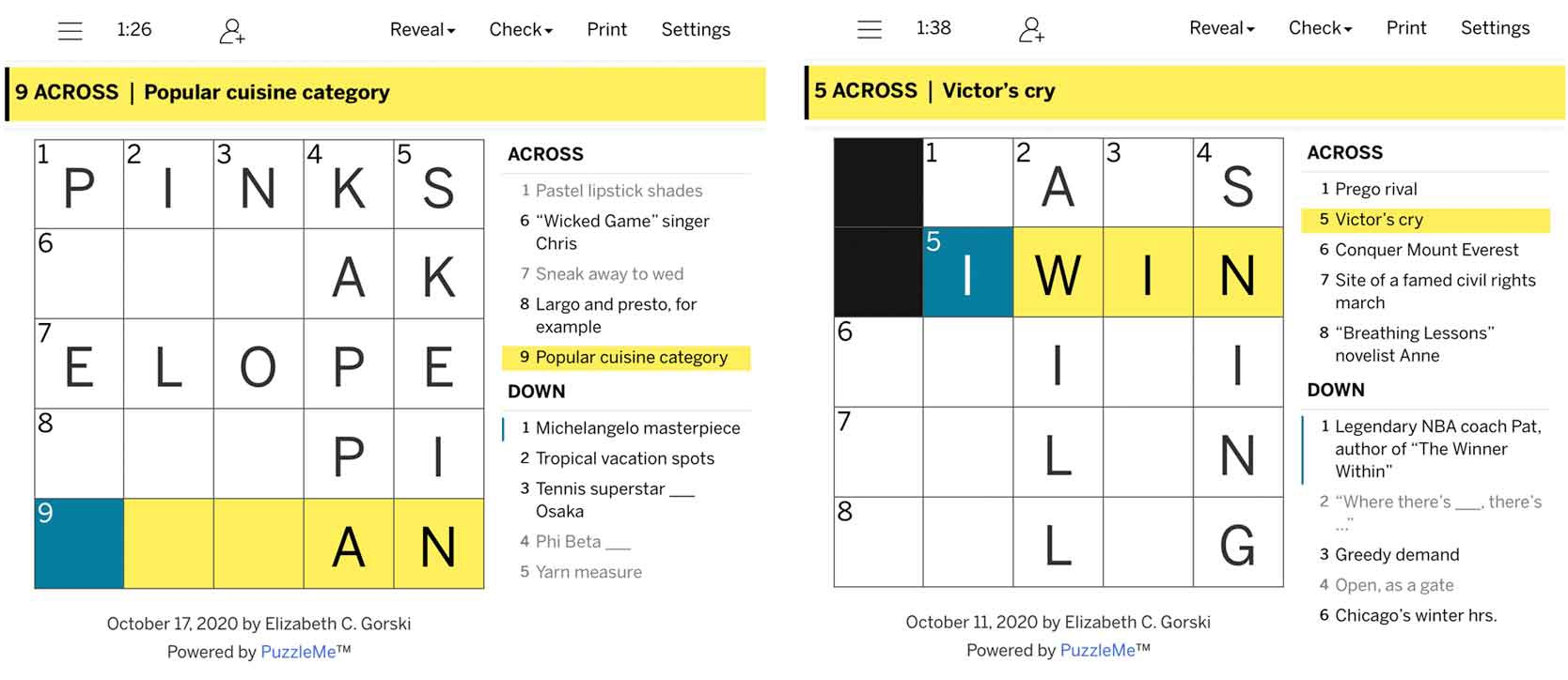 mini crossword games la times