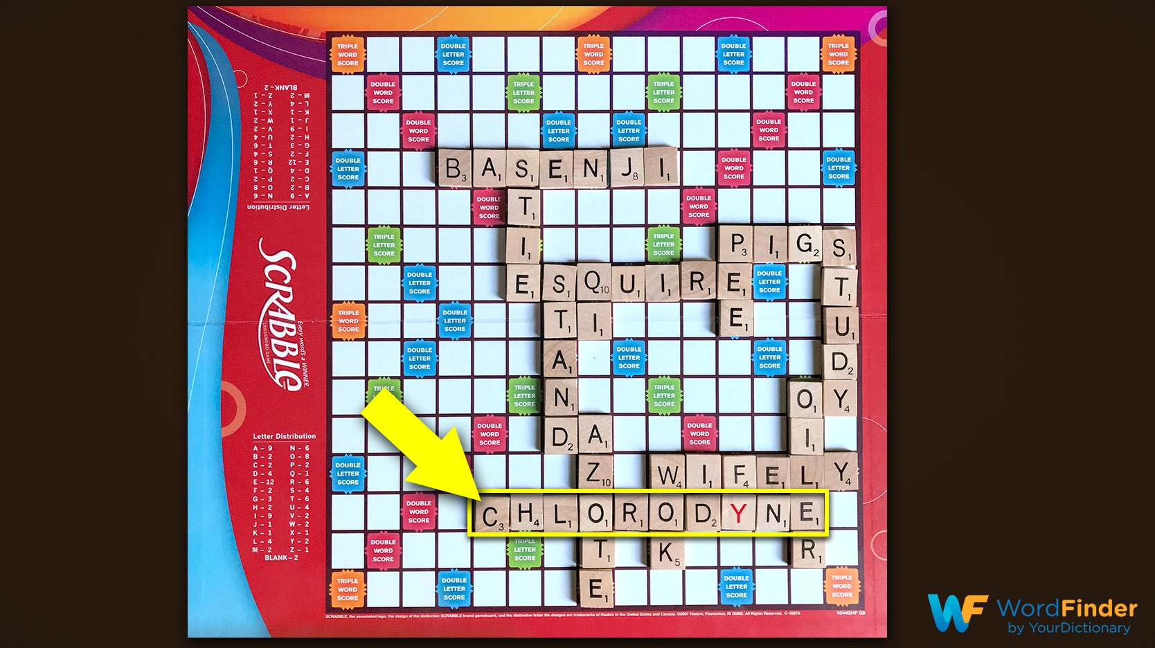 scrabble game play example nigel richards move