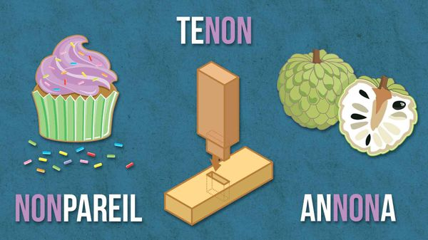 non words example nonpareil tenon annona