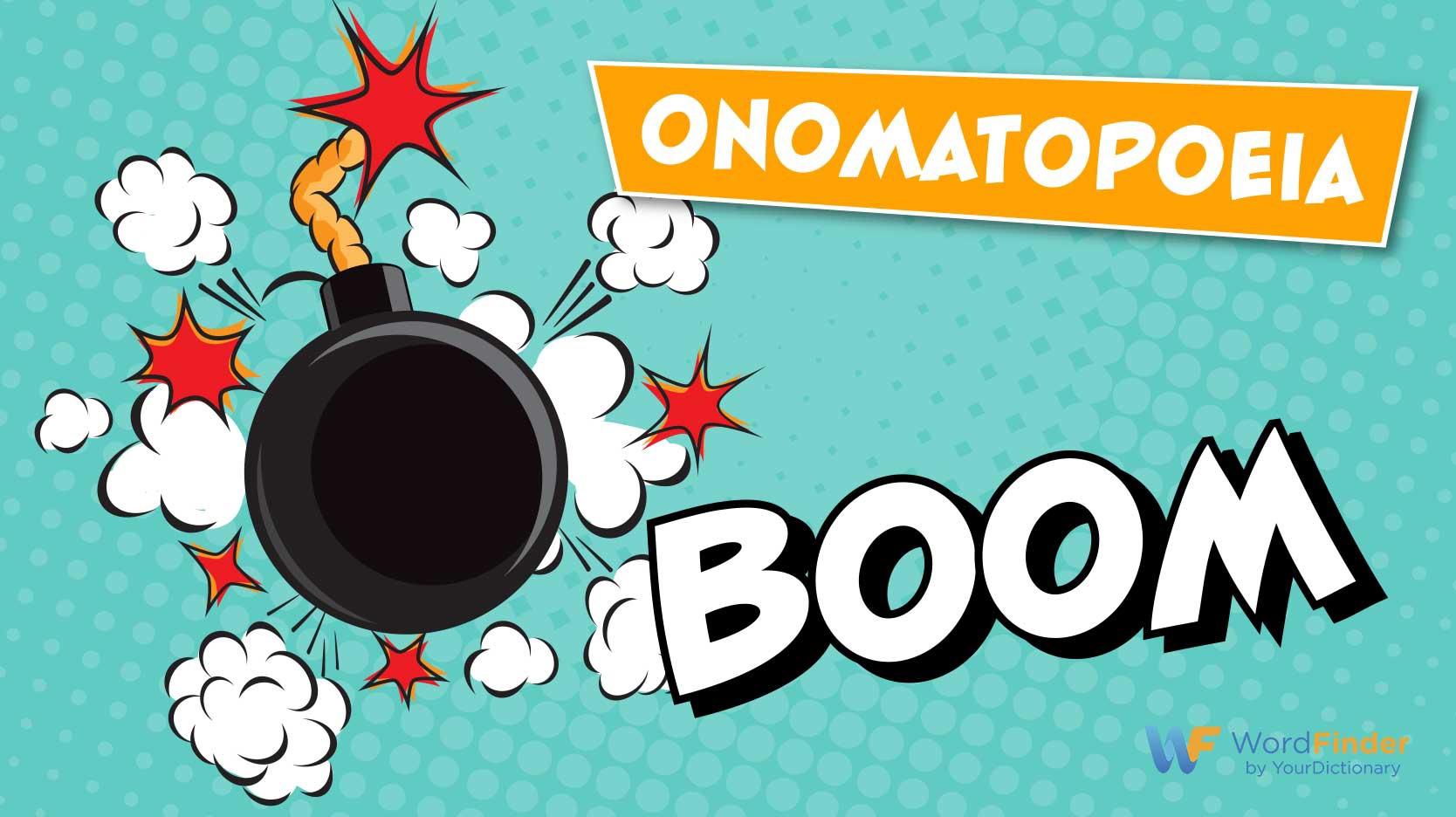 onomatopoeia bomb sound boom