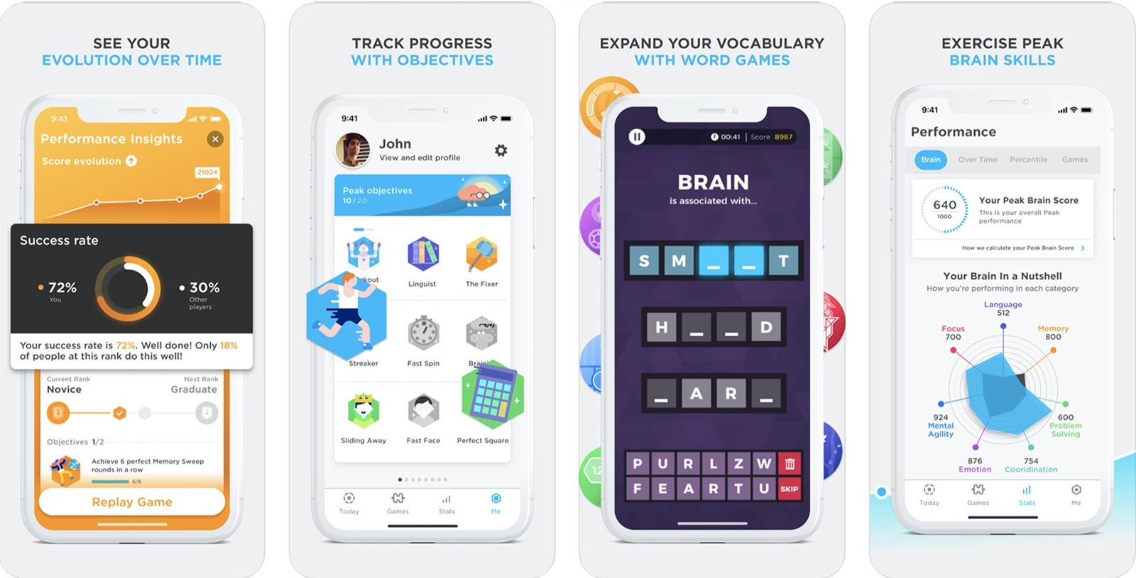 Screenshot of Peak Brain Game