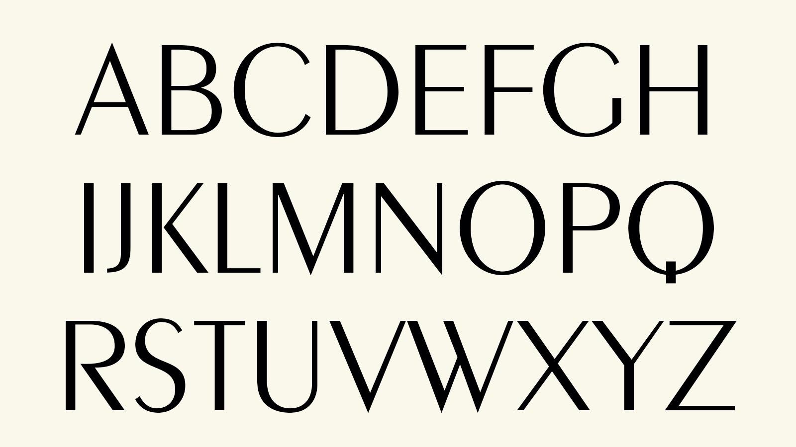 Alphabet in Peignot Font