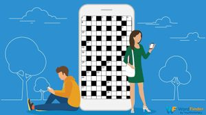 playing crossword apps on cell phone