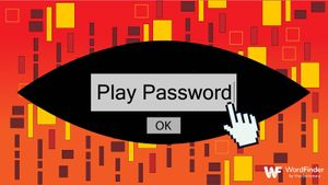 typing password to play game