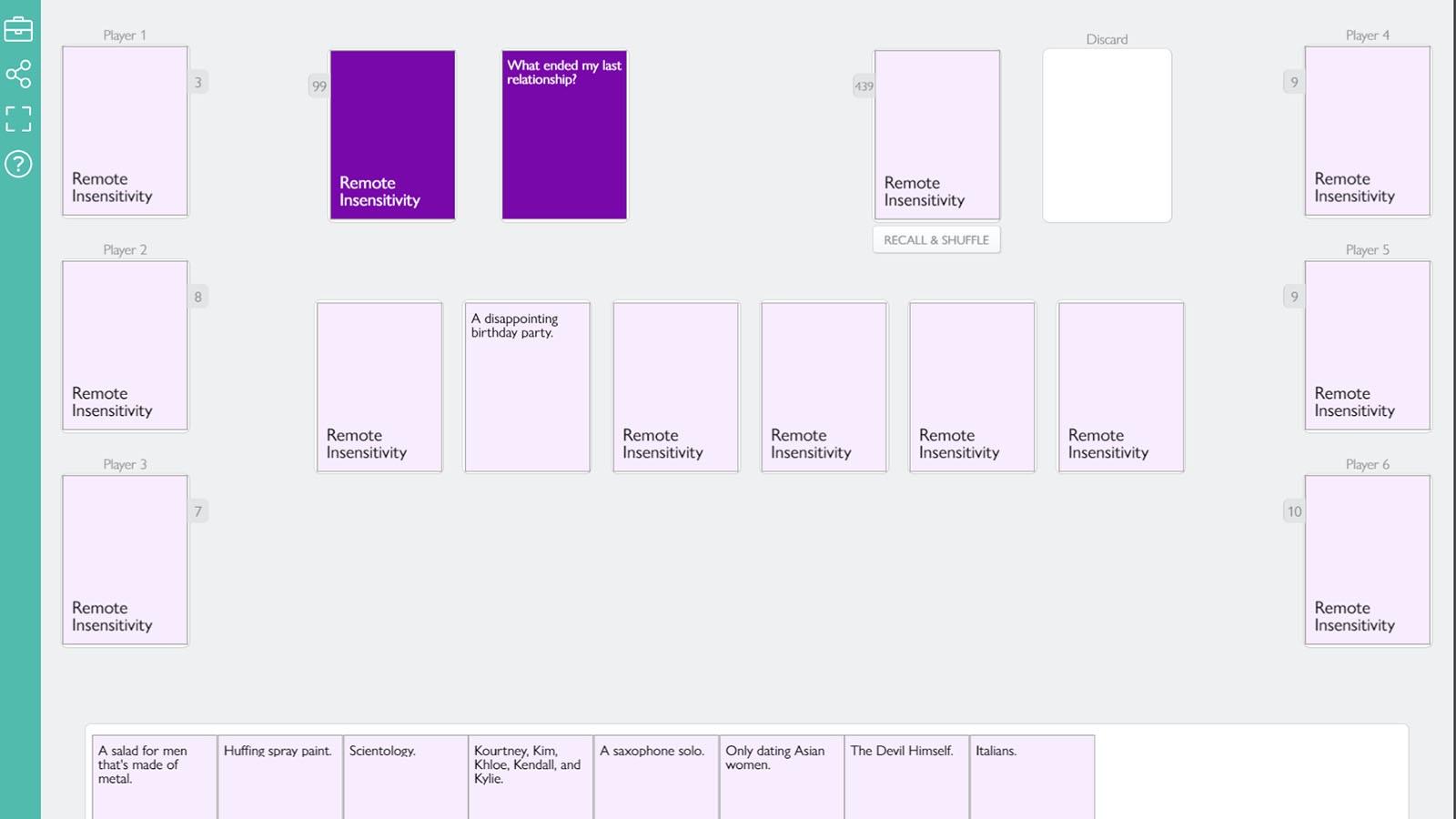 Screenshot of Remote Insensitivity game