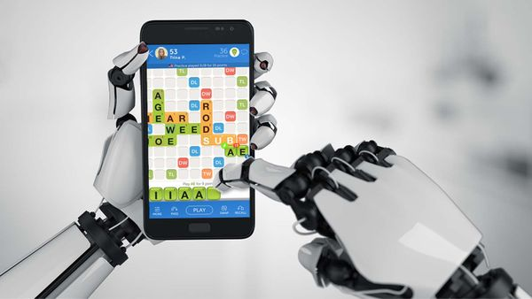 bot playing words with friends on phone