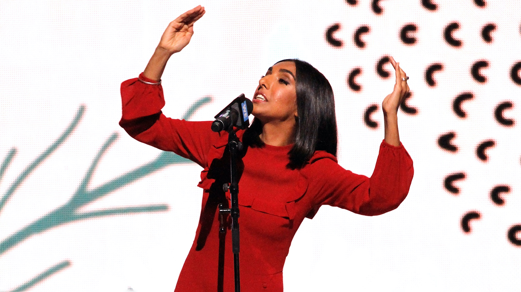 Rupi Kaur performs during WE Day Toronto 2019