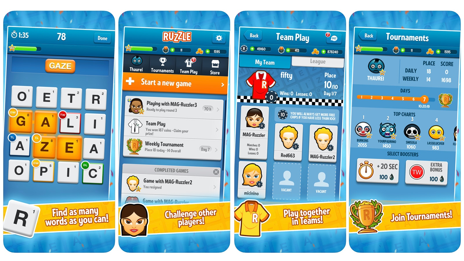 Ruzzle game screenshot