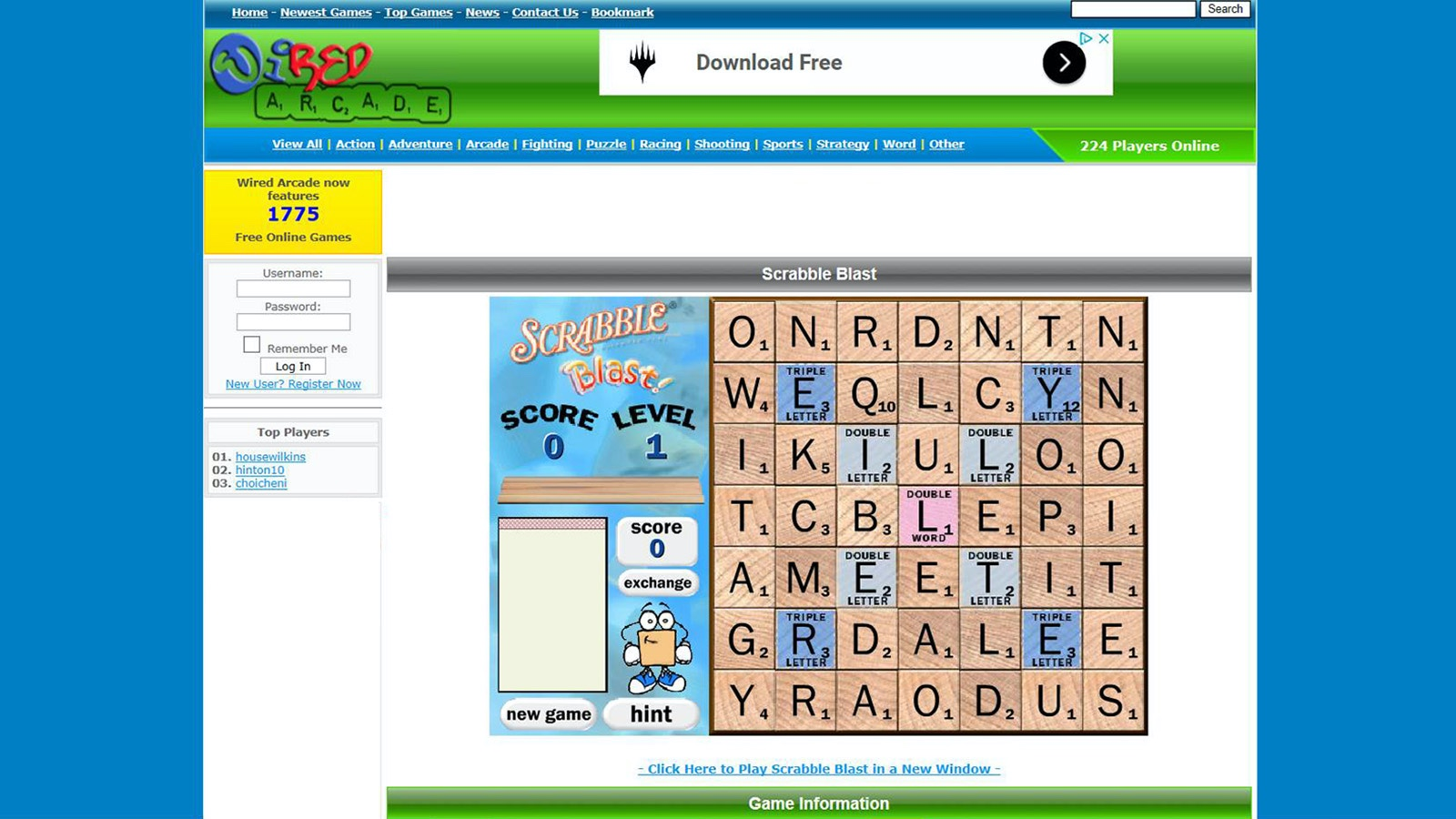 Screenshot of Scrabble Blast game
