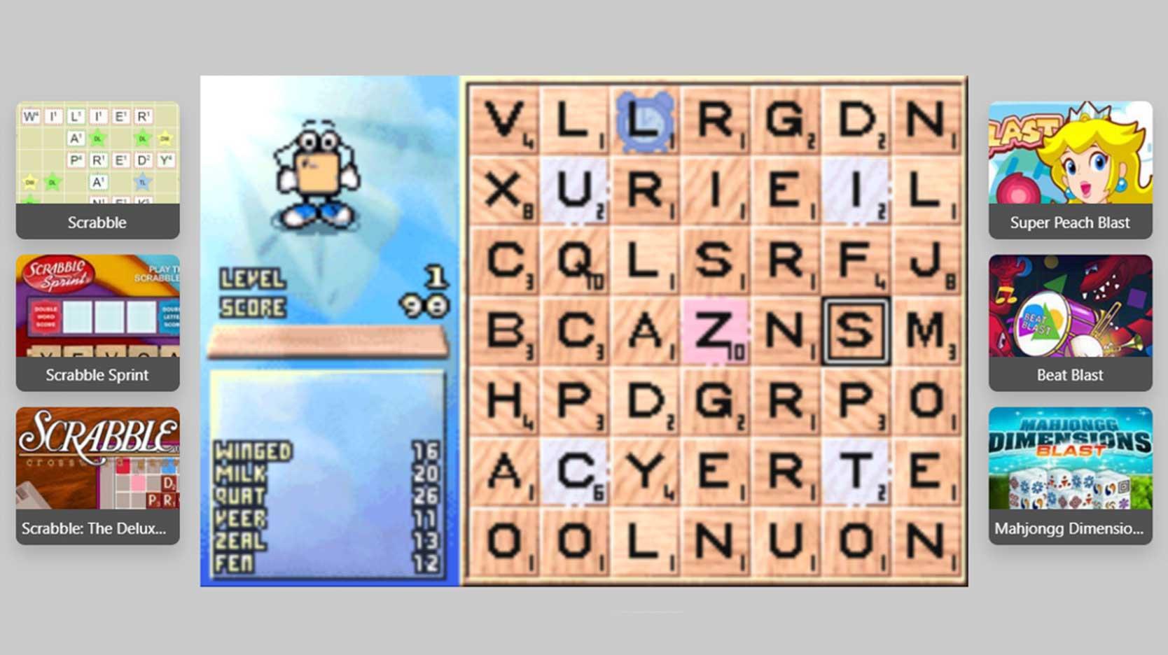 Screenshot of Scrabble-Blast game
