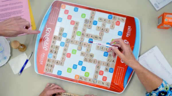 playing scrabble using official scrabble dictionary