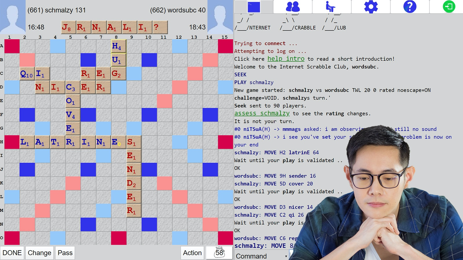 Internet Scrabble Player