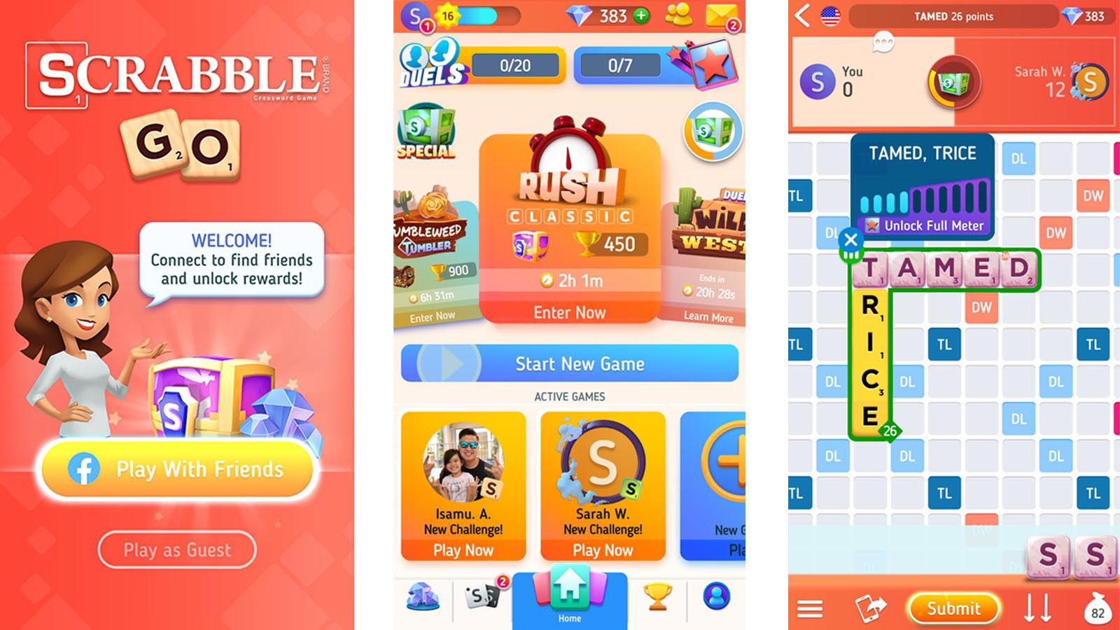 Scrabble Go game screenshots