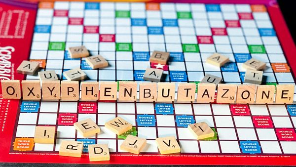 Oxyphenbutazone in Scrabble tiles