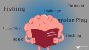 cartoon brain learning scrabble terms