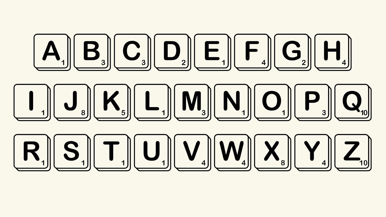 Alphabet in Scramble Font