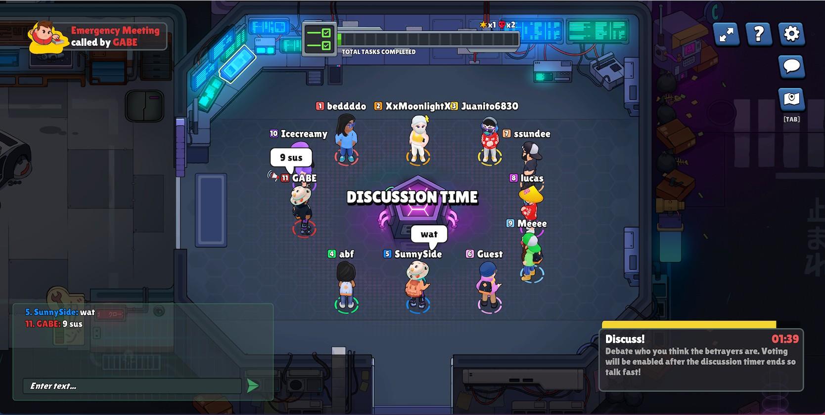 Betrayal browser game screenshot