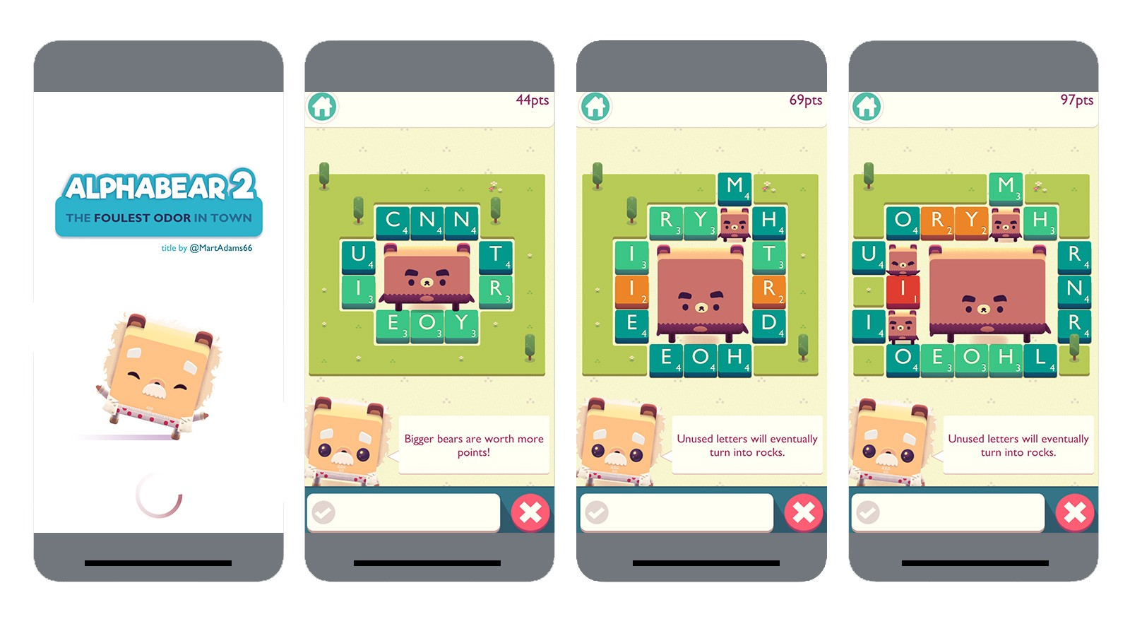 screenshots of alphabear 2 game
