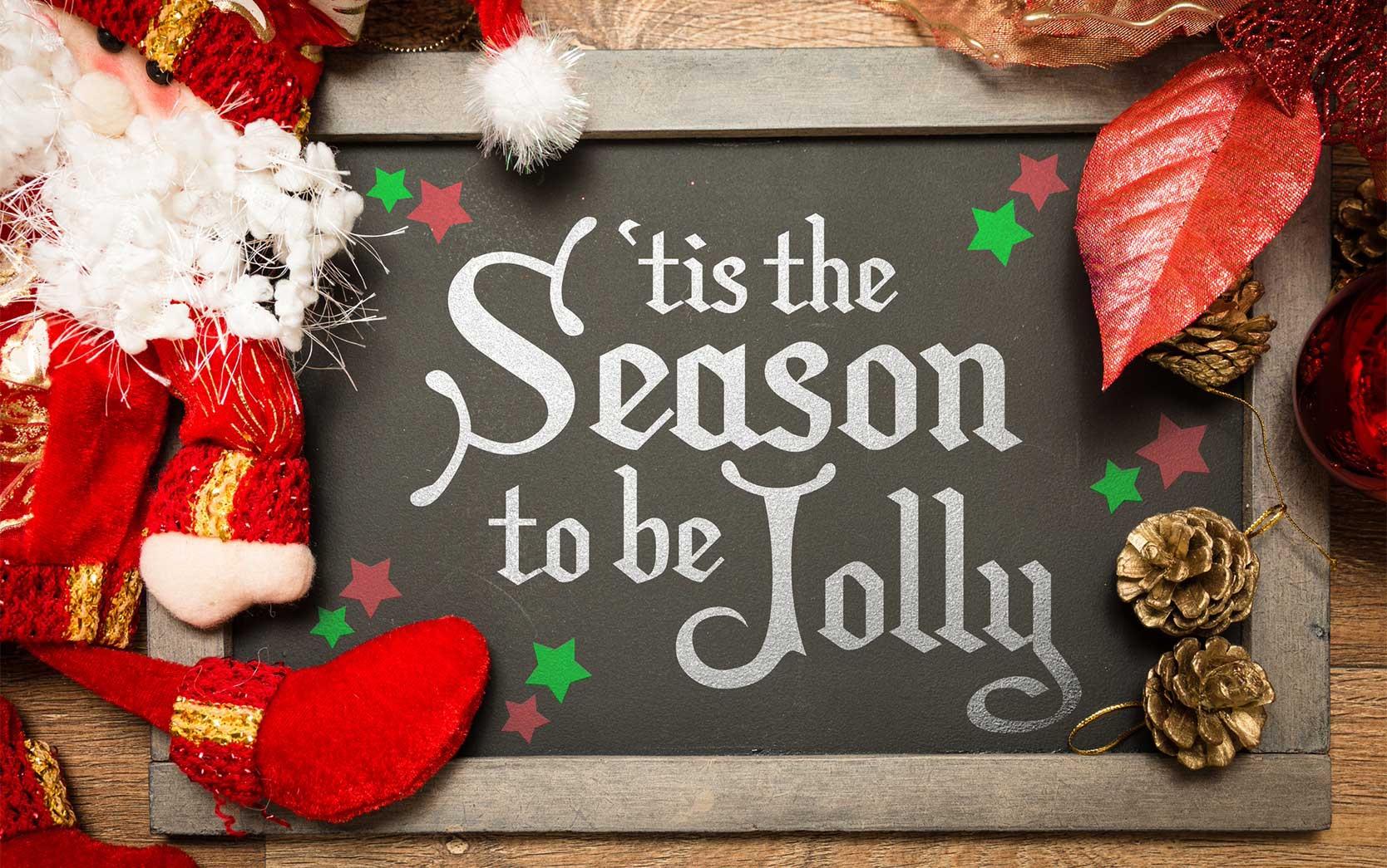 'tis the season sign holiday