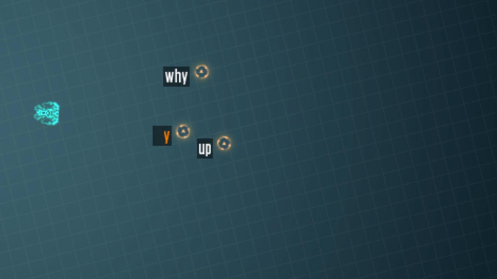 screenshot of typing attack game