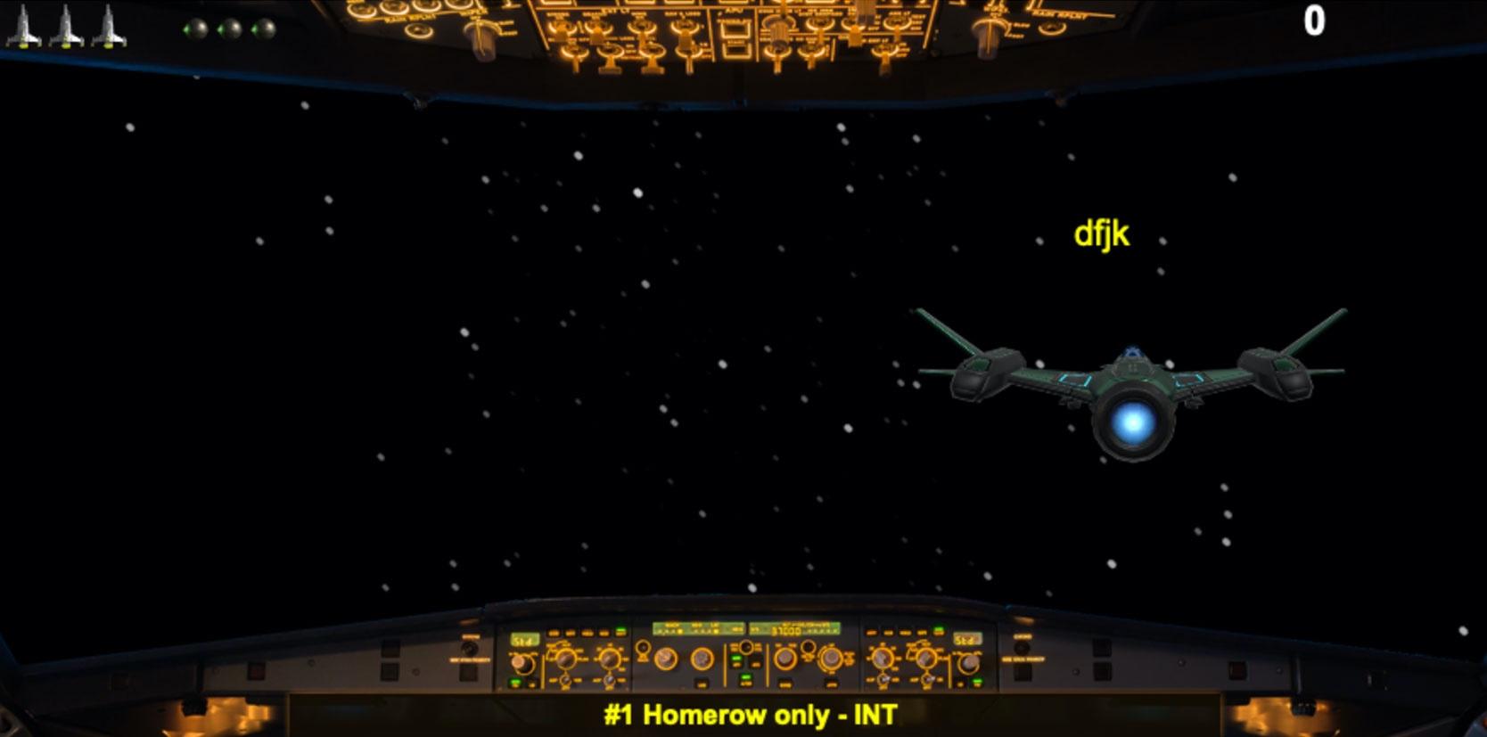 screenshot of typing wars game
