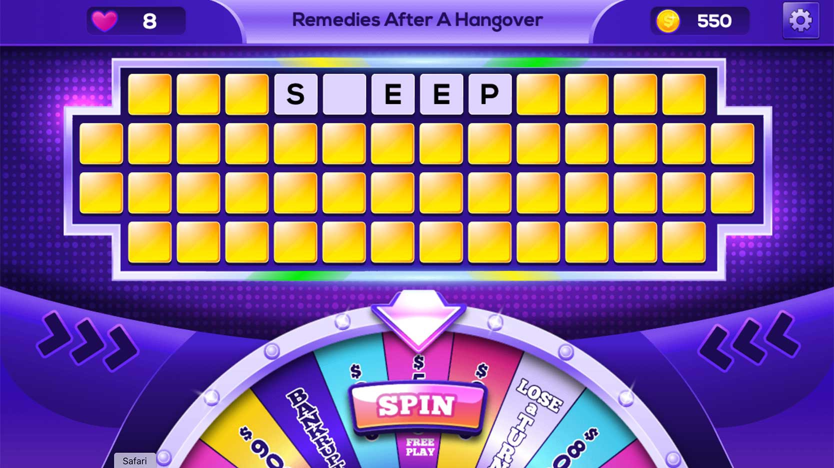 wheel of rewards online word game