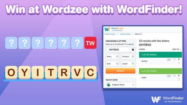 win at wordzee with wordfinder