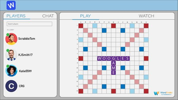 Woogles online game with friends