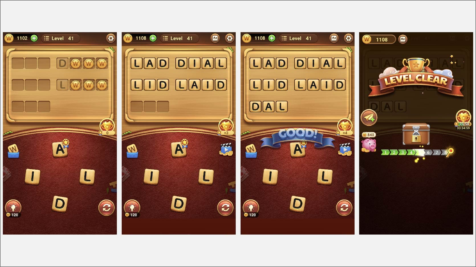 word connect game app screenshots