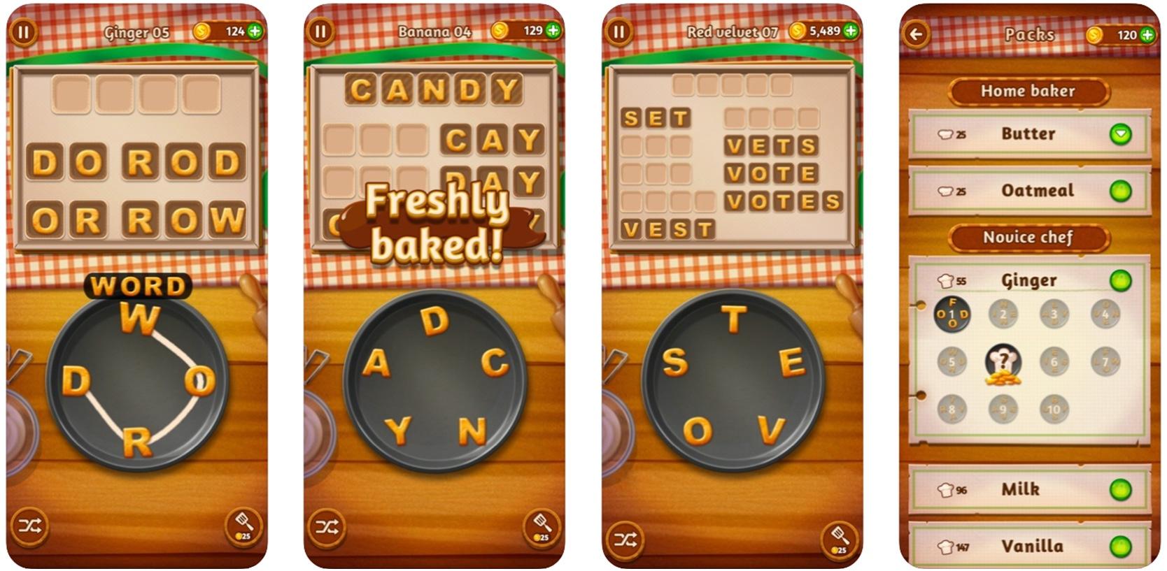 Screenshot of Word Cookies game