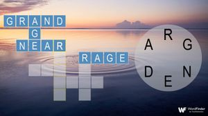 word crossy game with calming background