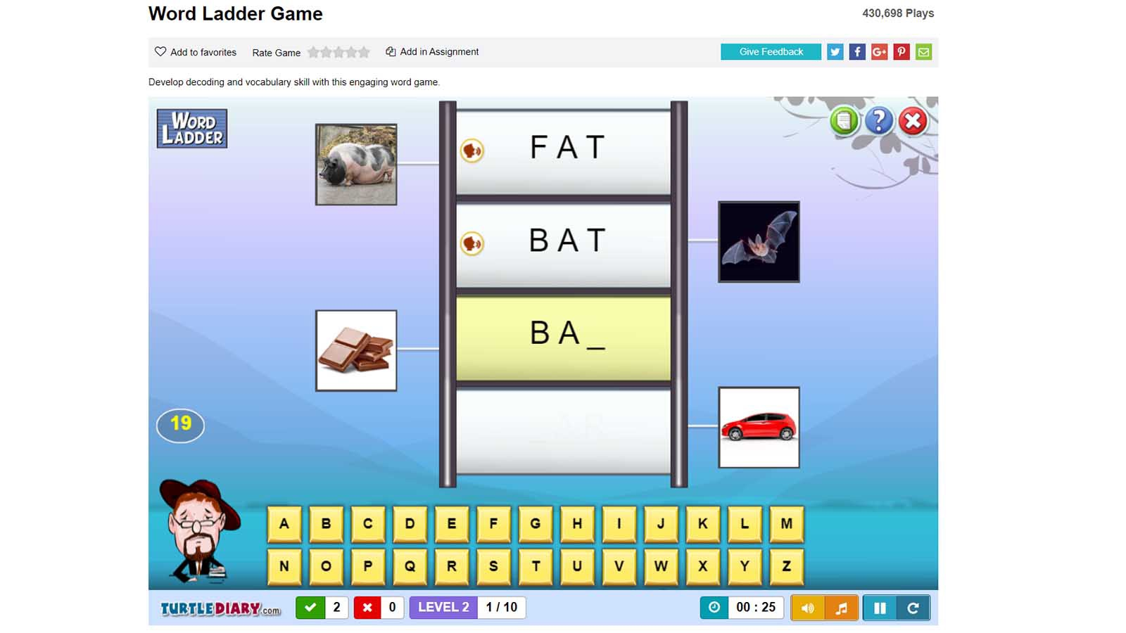 online word game kids Word Ladder game