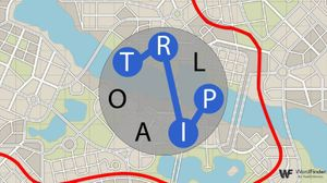 circle word trip game with map