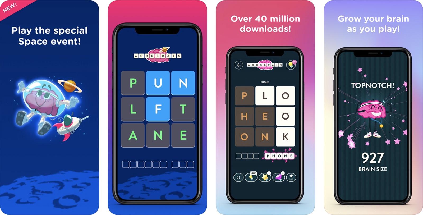 Screenshot of WordBrain game